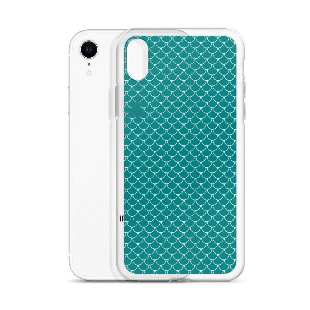 Mermaid FIsh Scale Turquoise iPhone Case - Nauti Details