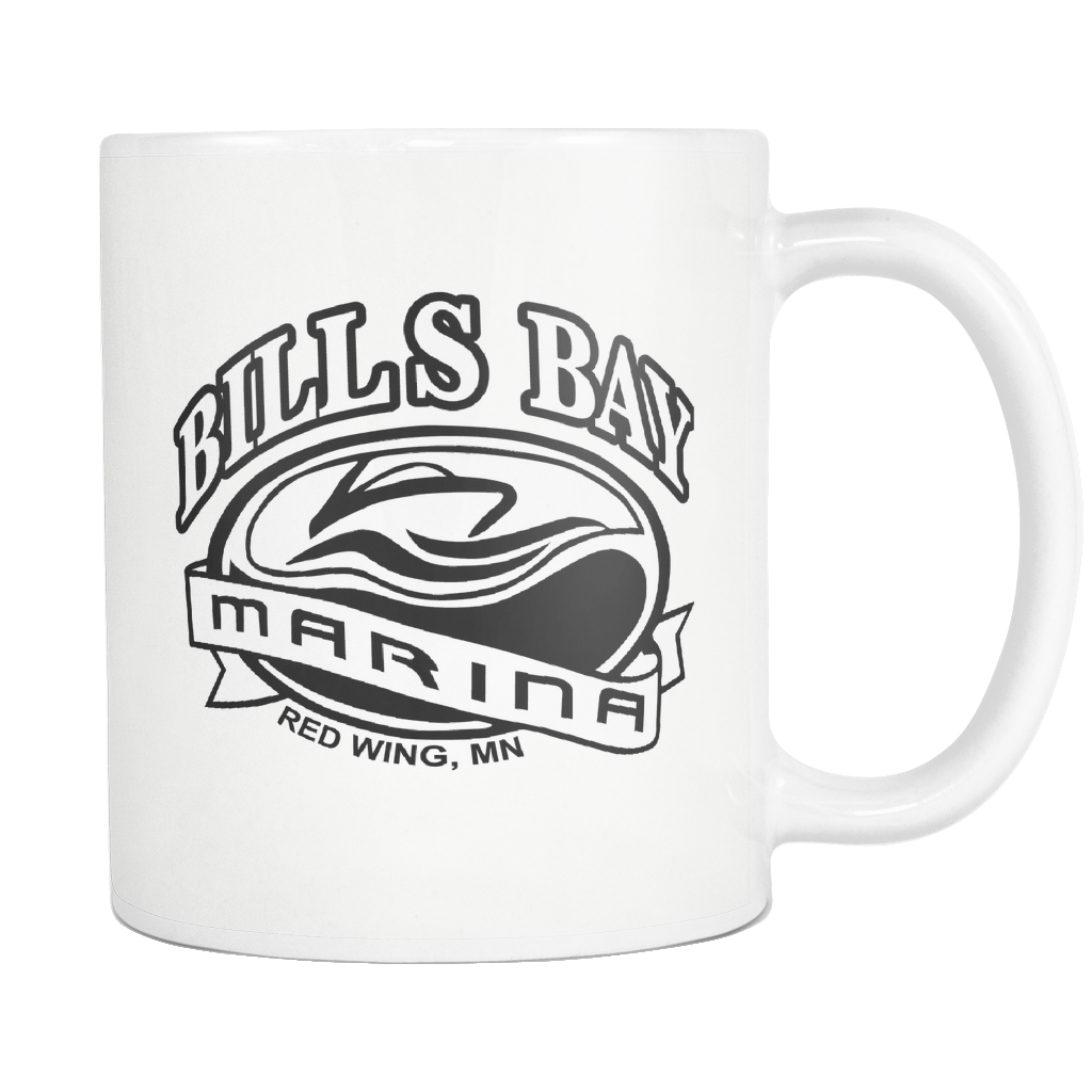 Bill's Bay Marina Mug in White - Nauti Details