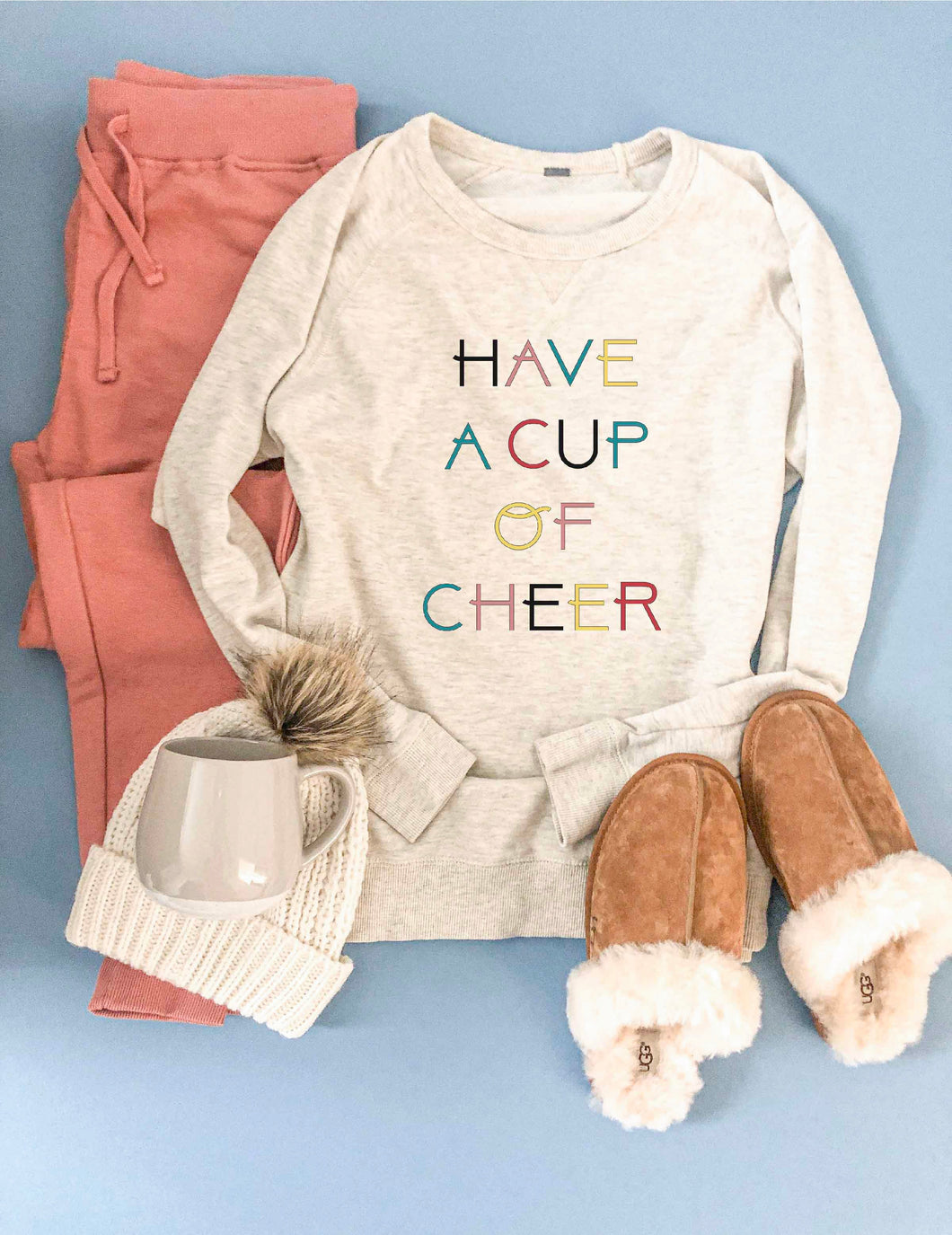 Have a cup of cheer french terry raglan sweatshirt
