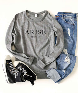 Arise french terry raglan Inspirational French Terry raglan Cotton heritage and lane seven French Terry raglan XS Heather grey