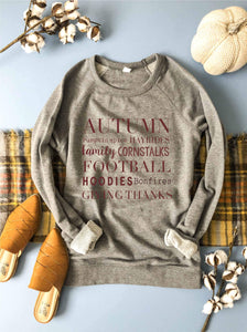 Autumn french terry raglan Fall French Terry raglan Lane seven French Terry raglan heather grey
