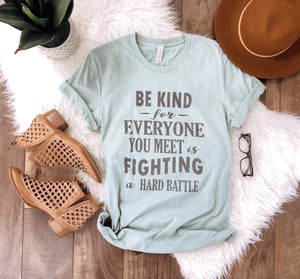 Be kind for everyone you meet Short sleeve miscellaneous tee Bella Canvas 3001 XS Mint prism