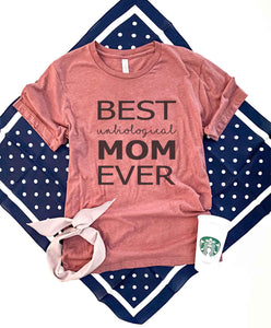 Best unbiological mom tee Short sleeve mom tee Bella Canvas 3001