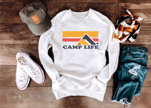 Camp life crewneck sweatshirt Miscellaneous sweatshirt Lane seven unisex sweatshirt oatmeal