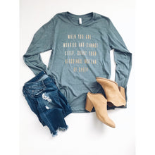 Count your blessings long sleeve tee Bella canvas long sleeve heather slate