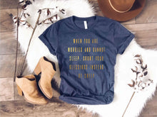 Count your blessings short sleeve tee Bella canvas 3001 heather slate