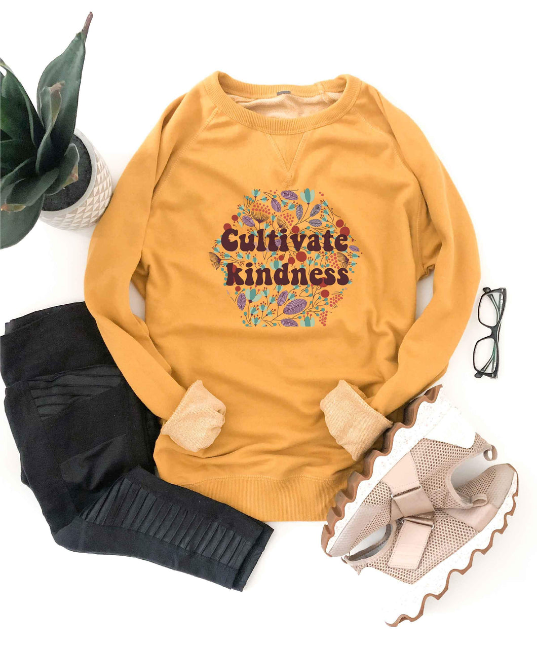 Cultivate kindness french terry raglan Miscellaneous French Terry raglan Cotton heritage French Terry raglan