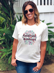 Cultivate Kindness Short sleeve miscellaneous tee Next Level 3600 antique gold