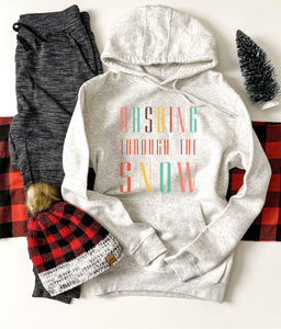 Dashing through the snow hoodie Holiday hoodie Lane seven unisex hoodie oatmeal