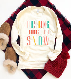 Dashing through the snow pocket sweatshirt Holiday pocket sweatshirt Next level 9000