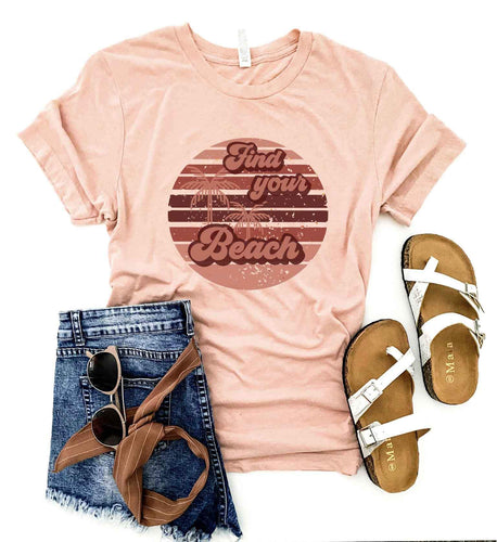 Find your beach tee Short sleeve summer tee Bella Canvas 3001