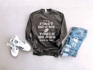 First downs and touchdowns sweatshirt Football sweatshirt Lane seven sweatshirt