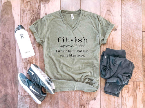 Fit-ish tee Fitness tee Next Level 6240 military green