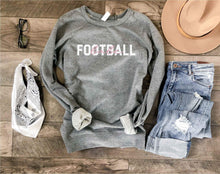 Football babe french terry raglan Football french Terry Lane seven French Terry raglan heather grey