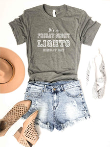Friday night lights tee Short sleeve football tee Bella canvas and Next Level