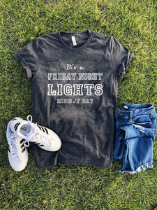 Friday night lights tee Short sleeve football tee Bella canvas and Next Level XL Charcoal