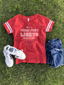 Friday night lights women's varsity tee Varsity gameday tee LAT womens varsity tee