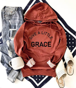 Give a little grace french terry hoodie Fall French Terry hoodie Lane seven and cotton heritage French Terry raglans