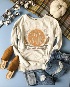 Give thanks in all things french terry raglan Fall French Terry raglan Cotton heritage French Terry raglan
