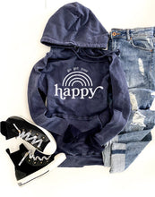 Go get your happy vintage wash hoodie Edgy hoodie Lane Seven vintage hoodie XS Vintage navy