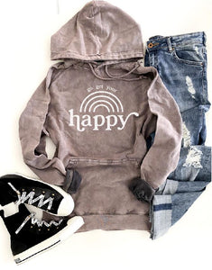 Go get your happy vintage wash hoodie Edgy hoodie Lane Seven vintage hoodie XS Vintage zinc