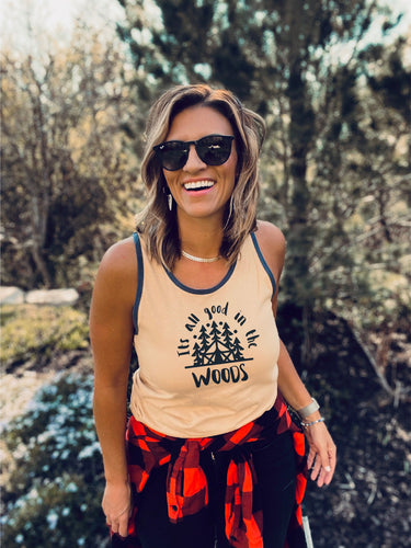 Good in the woods unisex ringer tank Summer tank Cotton heritage m1792