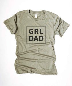 Grl dad tee Short sleeve men's tee Bella Canvas 3001 XS Heather stone
