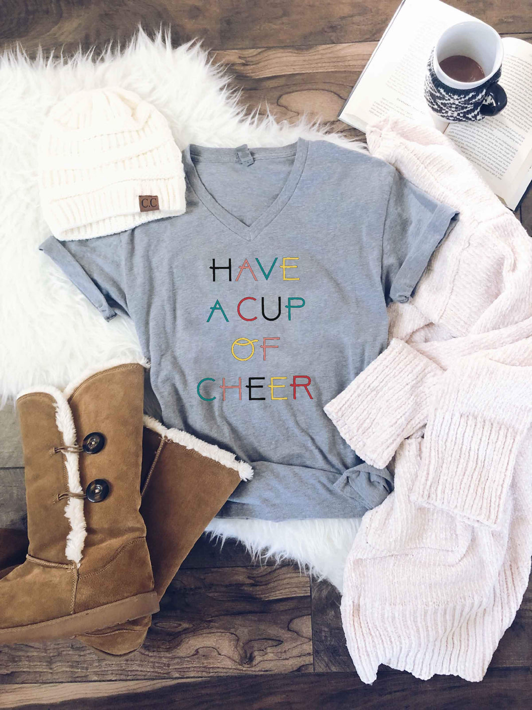 Have a cup of cheer heather grey Next Level 6210 Heather Grey