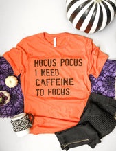 Hocus Pocus I need caffeine to focus- basic tee Short Sleeve halloween tee Anvil 980