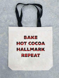 Holiday tote bag- customizable! Tote bag Costa Threads Hallmark repeat tote bag