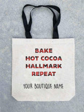 Holiday tote bag- customizable! Tote bag Costa Threads Hallmark repeat tote bag w/boutique name