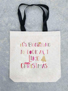 Holiday tote bag- customizable! Tote bag Costa Threads It's beginning to look tote bag