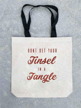 Holiday tote bag- customizable! Tote bag Costa Threads Tinsel in a tangle tote bag
