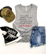 Homeruns and double plays unisex muscle tank Baseball french Terry raglan Bella Canvas 6003 muscle tank XS Heather grey