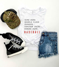 Homeruns and double plays unisex muscle tank Baseball french Terry raglan Bella Canvas 6003 muscle tank XS White