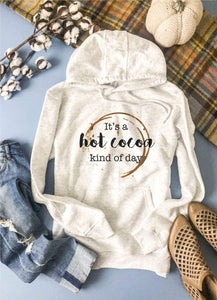 Hot cocoa kind of day hoodie Fall hoodie Lane seven unisex hoodie oatmeal
