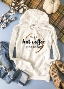 Hot coffee kind of day hoodie Fall hoodie Lane seven unisex hoodie oatmeal
