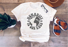 Humanity is our race tee Short sleeve inspirational tee Bella Canvas 3001 XS Cream