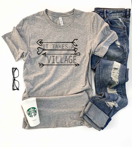 It takes a village tee Short sleeve mom tee Bella Canvas 3001