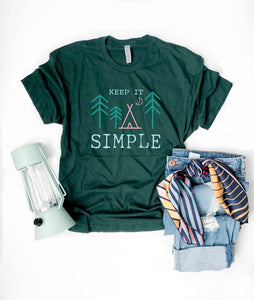 Keep it simple tee Short sleeve travel tee Bella Canvas 3001