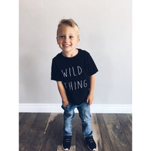Kids Wild Thing tee Kids short sleeve halloween tee Next Level 3310 kids tee black