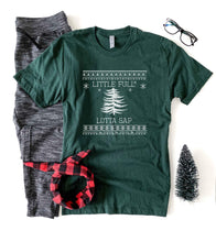 Little Full Lotta Sap tee Short sleeve holiday tee Bella Canvas 3001 XS Forest green