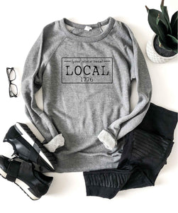 Local license french Terry raglan sweatshirt- Alabama, Alaska, Arizona, Arkansas, California, Colorado, Connecticut, State sweatshirt Lane seven unisex sweatshirt S Heather Grey Alabama