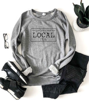 Local license french terry raglan sweatshirt- New York,North Carolina,North Dakota,Ohio,Oklahoma,Oregon,Pennsylvania, South Carolina, South Dakota State French Terry raglan Cotton heritage and lane seven French Terry raglan S New York Heather Grey