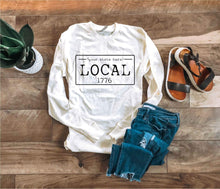 Local license long sleeve tee- M-N Local long sleeve tee Bella Canvas long sleeve
