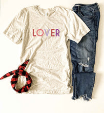 Lover tee Short sleeve valentines day tee Bella canvas 3001 XS Oatmeal