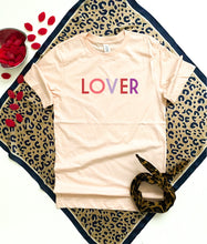 Lover tee Short sleeve valentines day tee Bella canvas 3001 XS Pale pink