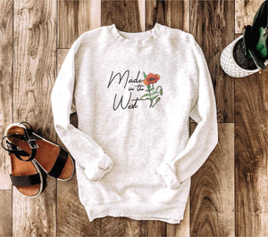 Made in the West crewneck sweatshirt Miscellaneous sweatshirt Lane seven unisex sweatshirt oatmeal