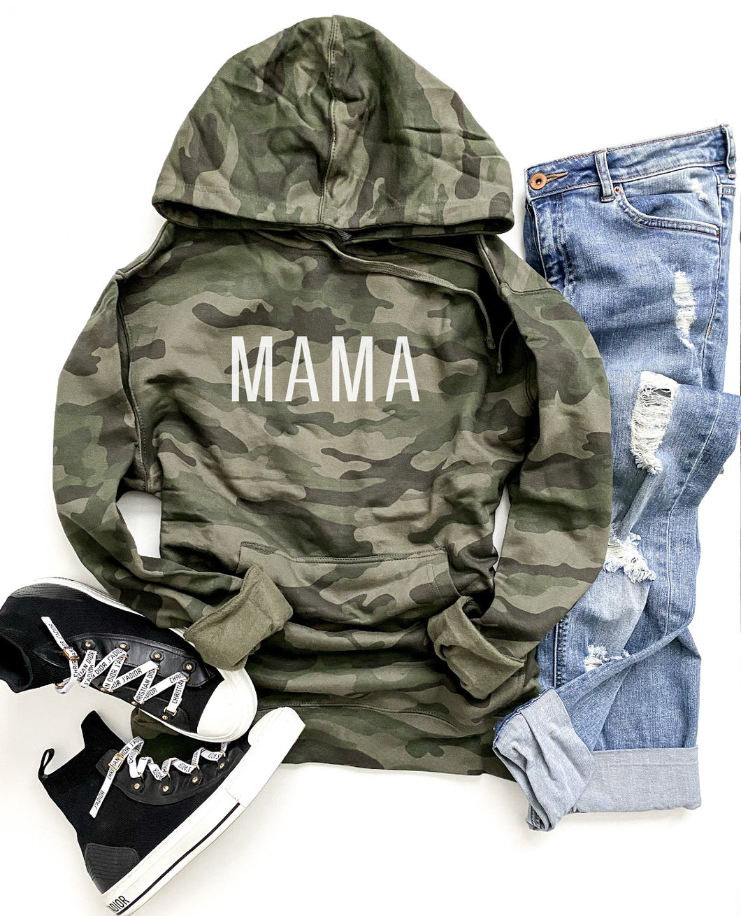 Mama camo hoodie Fall hoodie Independent Trading company lightweight hoodie