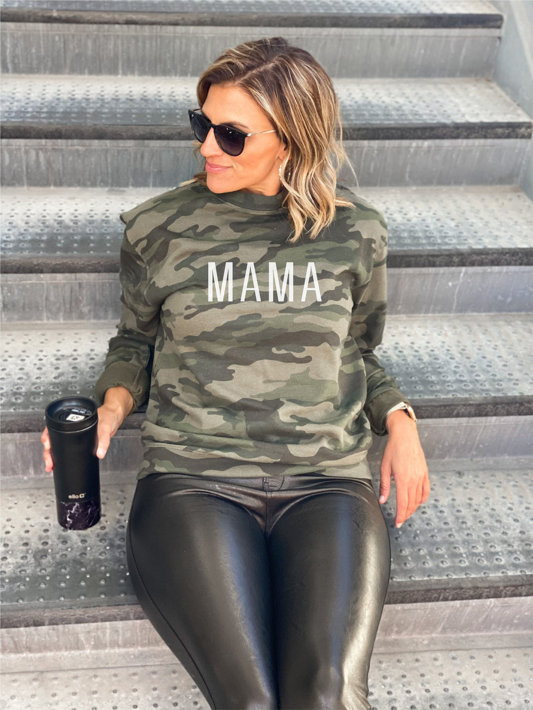 Mama camo sweatshirt Fall sweatshirt Independent Trading company lightweight sweatshirt